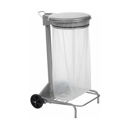 CEP Müllsackständer ROSSIGNOL mit Deckel, 110 Liter, silber