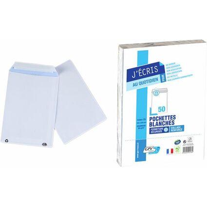 GPV Versandtaschen, C5, 162 x 229 mm, weiß, ohne Fenster