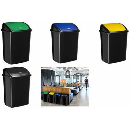 CEP Abfallbehälter ROSSIGNOL, mit Einwurfklappe, 50 L, gelb