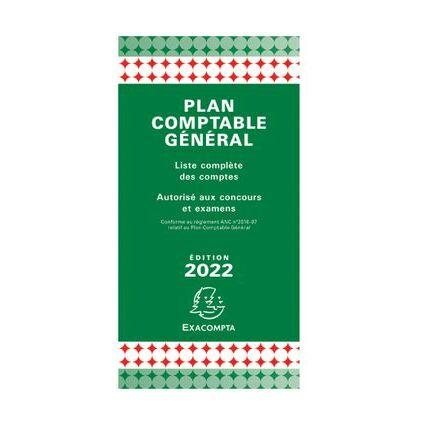 EXACOMPTA Plan comptable général pédagogique, 175 x 90 mm