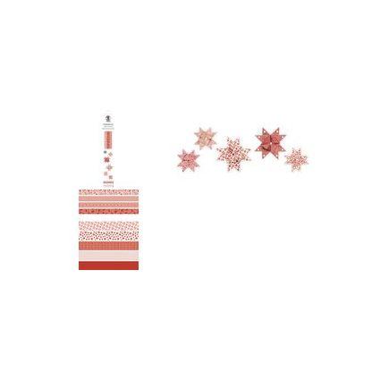 URSUS Faltpapierstreifen für Fröbelsterne, rot/weiß