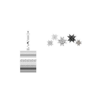 URSUS Faltpapierstreifen für Fröbelsterne, schwarz/weiß