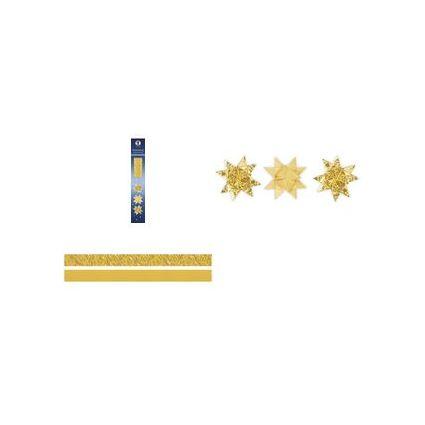 URSUS Faltpapierstreifen für Fröbelsterne, gelbgold/gold