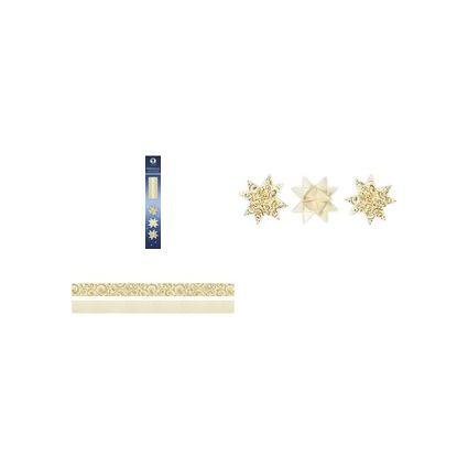 URSUS Faltpapierstreifen für Fröbelsterne, elfenbein/gold