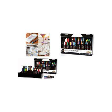 uni-ball POSCA Pigmentmarker im Koffer, Inhalt: 30 Stück
