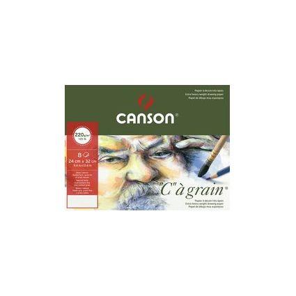 """Canson Zeichenpapier """"C"""" à grain, DIN A3, 220 g/qm, Umschlag"""