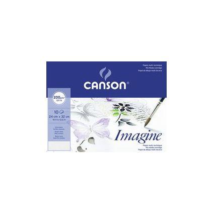 Canson Zeichenpapier Imagine, DIN A3, 200g/qm, Umschlag