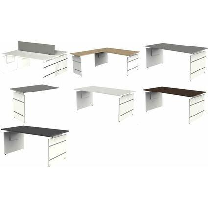 kerkmann Wangen-Anbau-Schreibtisch Form 4, weiß