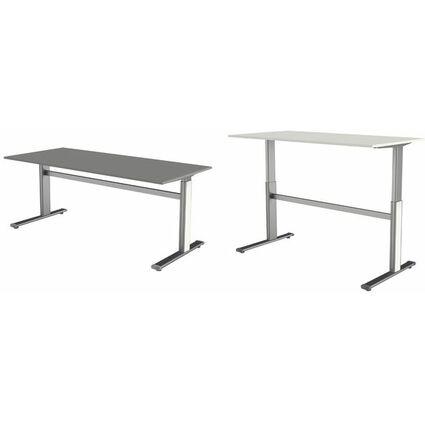 kerkmann Sitz-Steh-Schreibtisch Form 4, (B)1.600 mm, grau