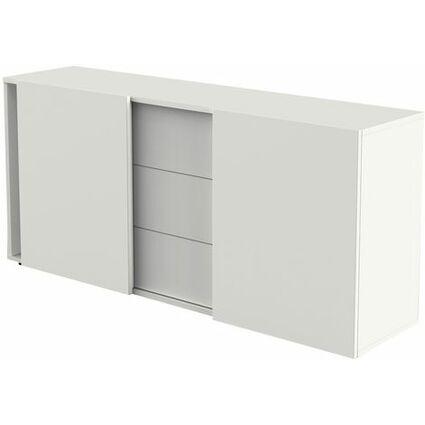 kerkmann Sideboard, 3 Schubladen +  2 Schiebetüren, weiß