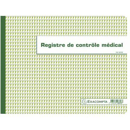 "EXACOMPTA Geschäftsbuch ""Contrôle médical"", 240 x 320 mm"