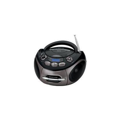 AEG Stereo CD/Kassetten-Radio SR 4366, schwarz/titan