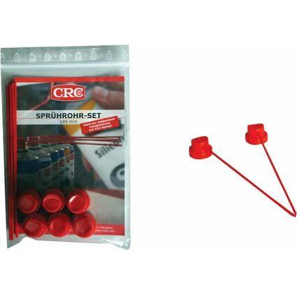 CRC Sprührohr-Set für CRC Spraydosen, 145 mm, rot