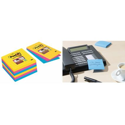 Post-it Haftnotizen Super Sticky Notes, 101 x 101 mm, Rio