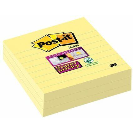 Post-it Haftnotizen Super Sticky Notes, 101 x 101 mm, gelb