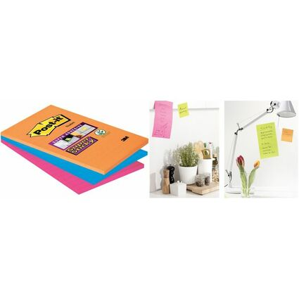Post-it Haftnotizen Super Sticky Notes, 101 x 152 mm