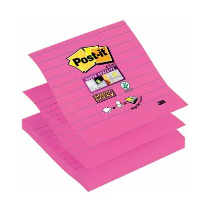 Post-it Haftnotizen Super Sticky Z-Notes, 101 x 101 mm, gelb
