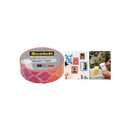 3M Scotch Kreativ-Klebefilm, 15 mm x 10 m, pink