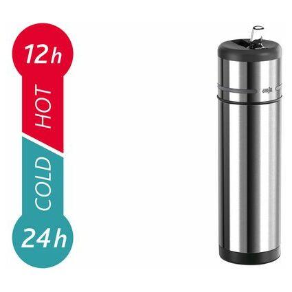 emsa Isolier-Trinkflasche MOBILITY, 0,70 Liter, schwarz