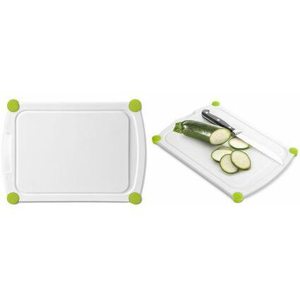 emsa Schneidebrett PERFECT CUT, 400 x 290 mm, weiß/grün