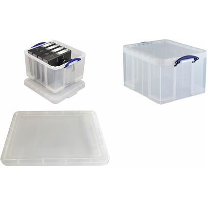 Really Useful Box Aufbewahrungsbox 42 Liter, transparent