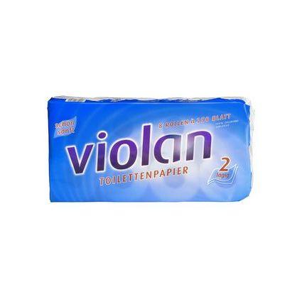 Fripa Toilettenpapier Violan, 2-lagig, hochweiß