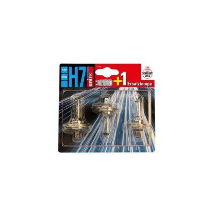 uniTEC KFZ-Lampe H7 2+1 für Hauptscheinwerfer, 12 V, 55 Watt