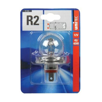 uniTEC KFZ-Lampe R2 für Hauptscheinwerfer, 12 V, 45/40 Watt