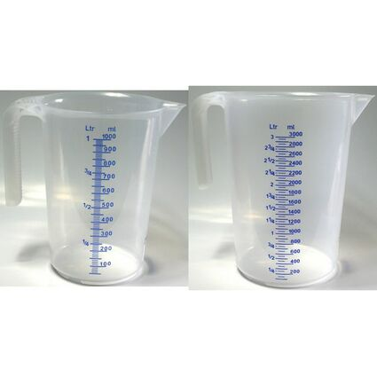 IWH Messbecher, transparent, Inhalt: 3 Liter