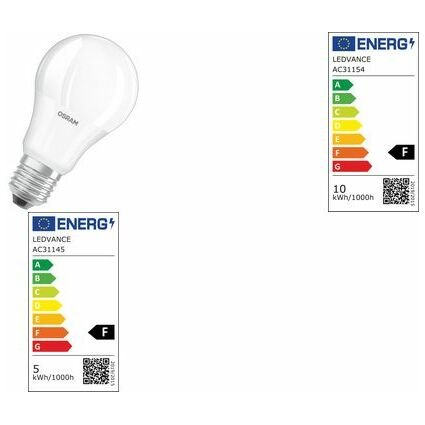 OSRAM LED-Lampe PARATHOM CLASSIC A, 8 Watt, E27, matt