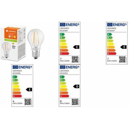 OSRAM LED-Lampe PARATHOM CLASSIC A, 6 Watt, E27, klar