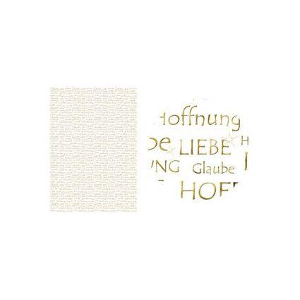 """URSUS Designkarton """"Gold"""", DIN A4, Motiv: Liebe, Glaube"""