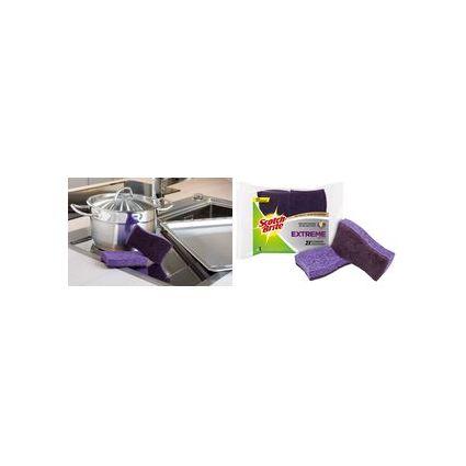 Scotch-Brite Cellulose-Schwamm Extreme, Farbe: lila