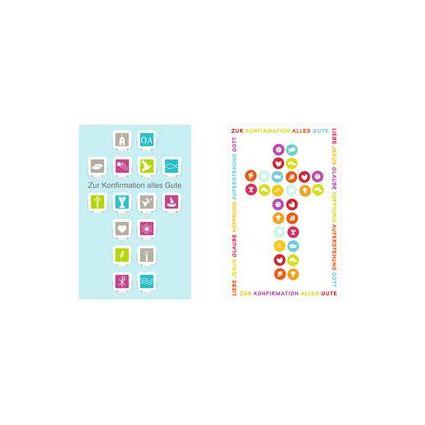 """SUSY CARD Konfirmationskarte """"Kreuz aus Piktogrammen"""""""