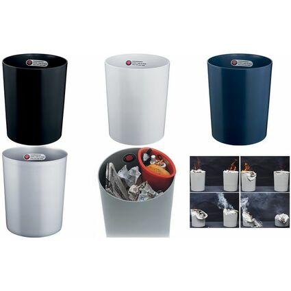 ZWINGO Sicherheits-Papierkorb, Kunststoff, 24 l, lichtgrau