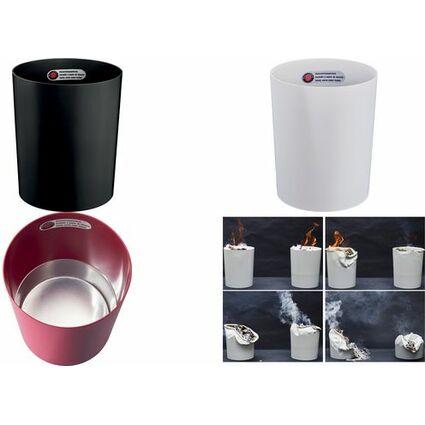 ZWINGO Sicherheits-Papierkorb, Kunststoff, 20 l, lichtgrau