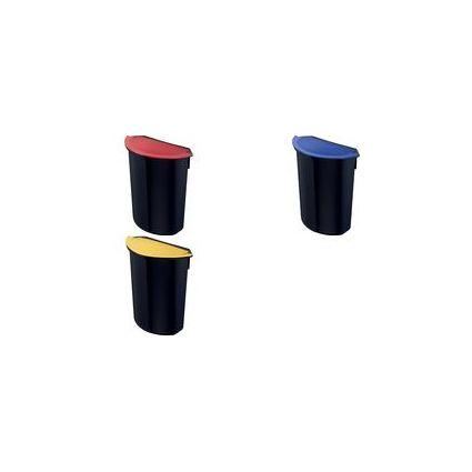 """ZWINGO Abfalleinsatz """"integral"""", 7 Liter, schwarz/rot"""