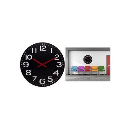 """unilux Funkwanduhr """"MEGA"""", Durchmesser: 600 mm, schwarz"""