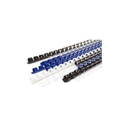 pavo Plastikbinderücken, DIN A4, 21 Ringe, 10 mm, schwarz