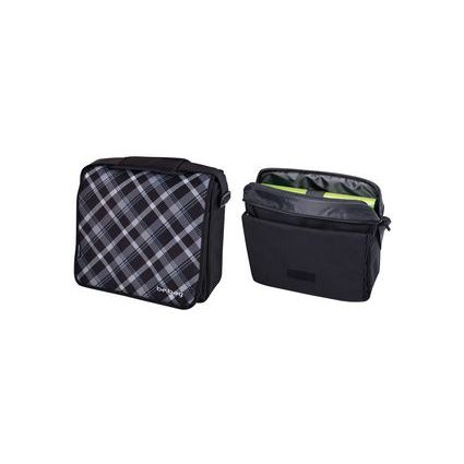 "herlitz Umhängetasche be.bag ""Black Checked"""