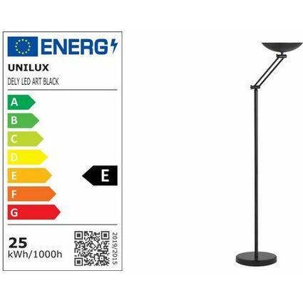unilux LED Energiespar-Stehleuchte DELY mit Gelenkarm