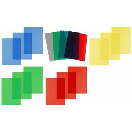 pavo Einbanddeckel, DIN A4, PVC, gelb transparent, 0,20 mm