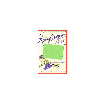 HORN Konfirmationskarte - Weiße Aster - inkl. Umschlag