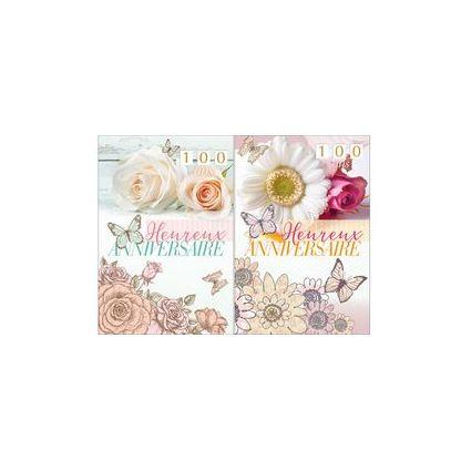 WEIGERT Cartes de voeux, Anniversaire, Pivoine & Rose