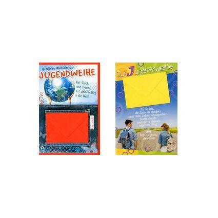 HORN Jugendweihe-Grußkarte - Globus - inkl Umschlag