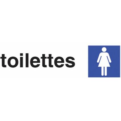 """pavo Hinweisschild """"toilettes femmes"""", (B)170 x (H)47 mm"""