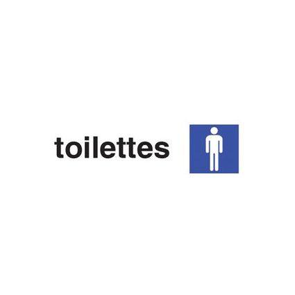 """pavo Hinweisschild """"toilettes hommes"""", (B)170 x (H)47 mm"""