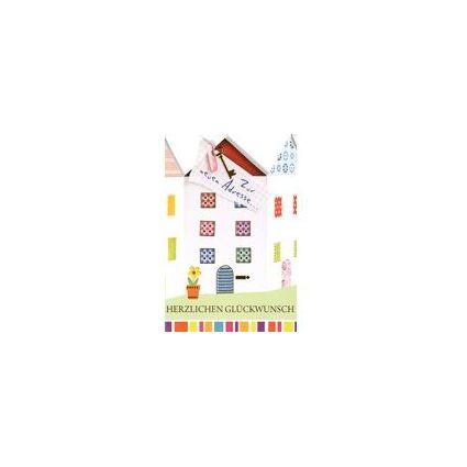 HORN Grußkarte - Ein-/Umzug - Spickzettel mit Hausschlüssel
