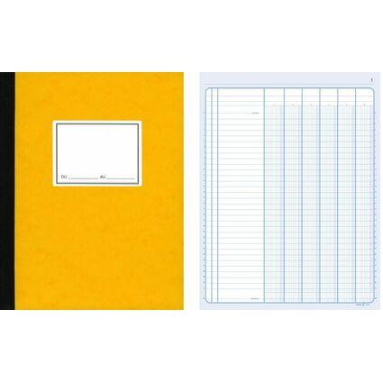 ELVE Piqûre comptable, 8 colonnes sur 1 page, 320 x 240 mm
