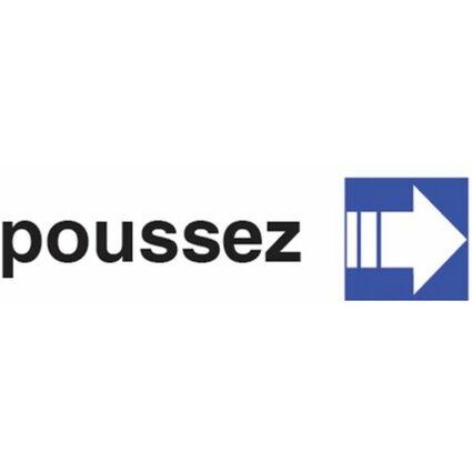 "pavo Hinweisschild ""poussez"", (B)170 x (H)47 mm"